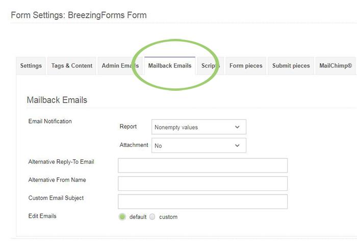 Mailback Emails - Crosstec