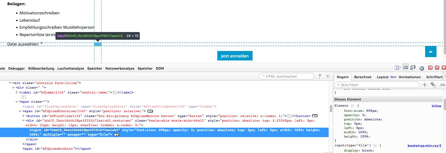 File Upload, no icon Button shown - Forums - Crosstec