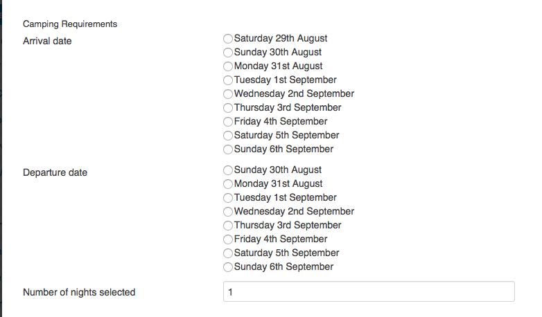 Days between dates using radio group  - Forums - Crosstec