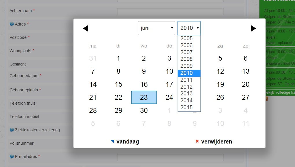 Extend the calendar range from the date picker - Forums