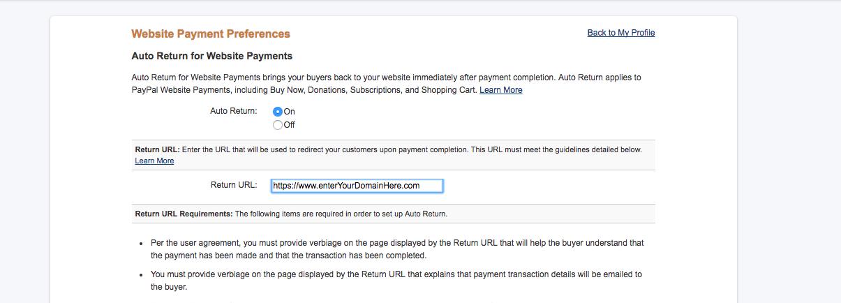 PayPal Return URL - Forums - Crosstec