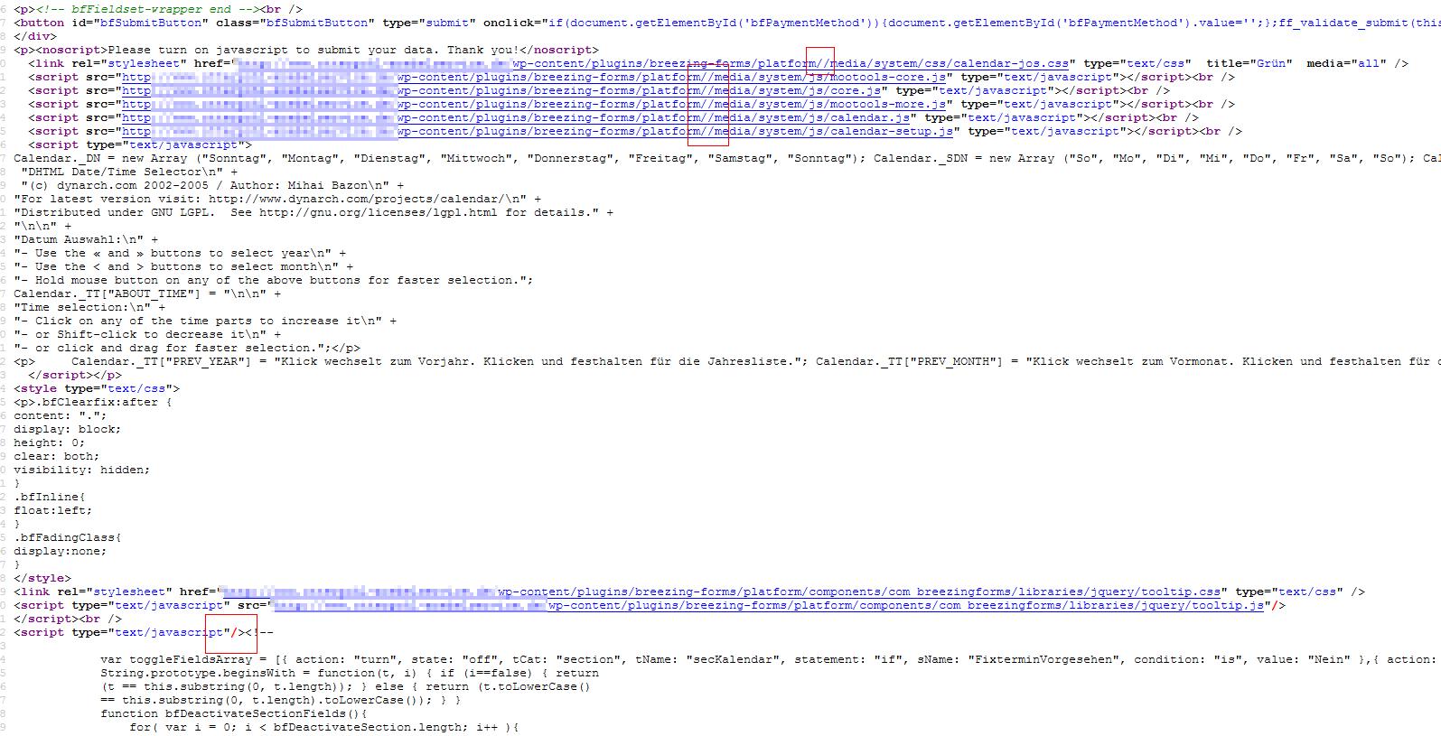 Calendar not working (TypeError: Calendar _TT is undefined