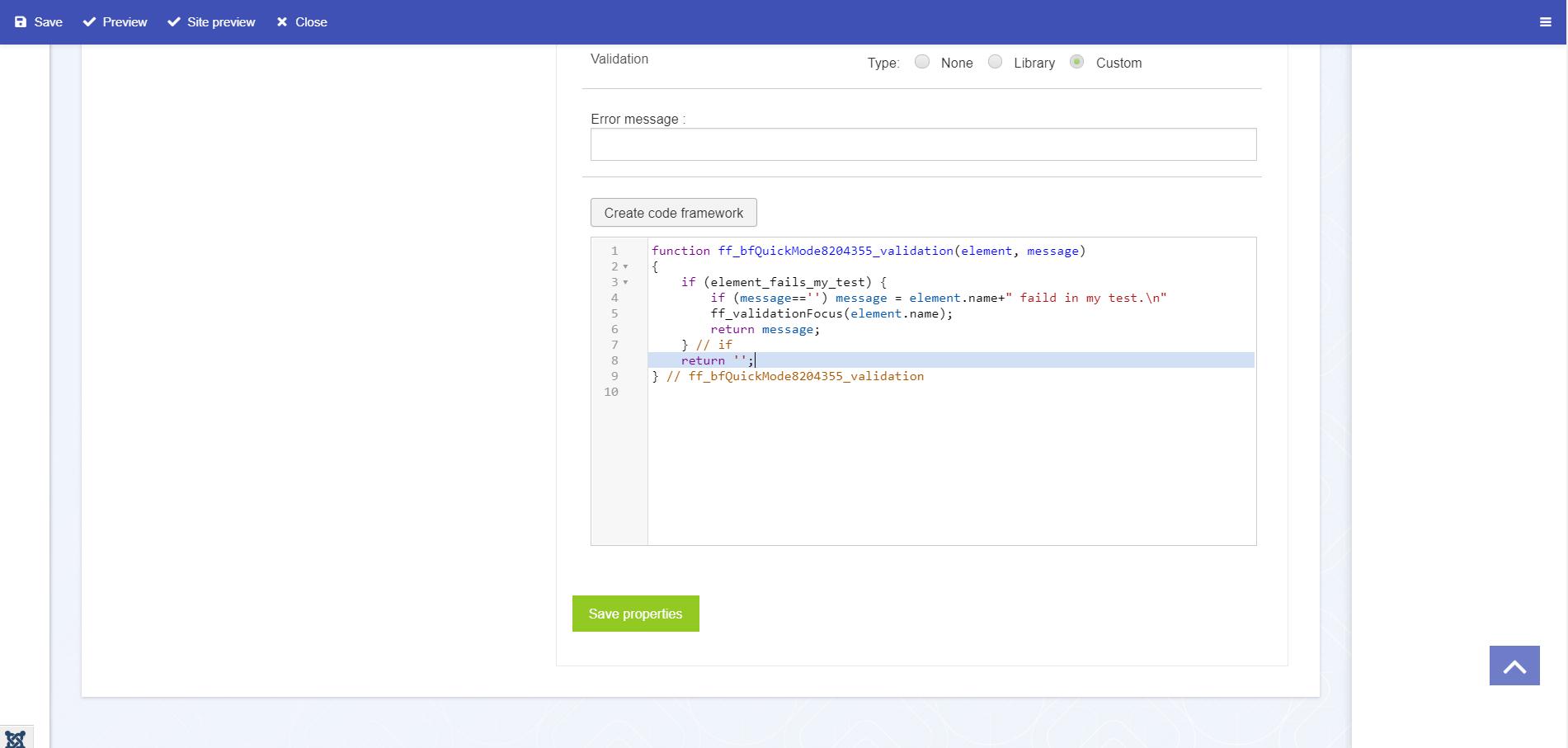CodeMiror dans la rédaction des scripts et des pièces (scripts php)